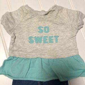Carter's Matching Sets - Carters Girl Newborn Pants and So Sweet Top 2Piece